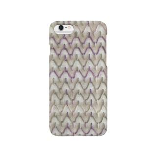 刺し子の波 Smartphone cases
