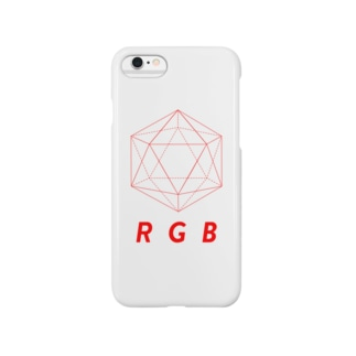わたけみのregular icosahedron RGB red Smartphone cases
