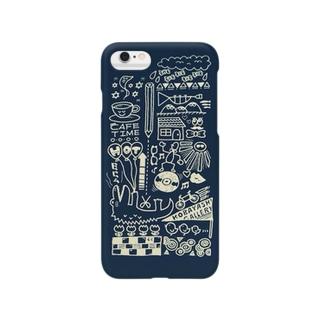 ラッパ吹きの休日(ネイビー) Smartphone cases