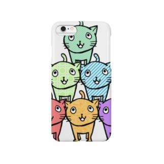 ネコ×6 Smartphone cases