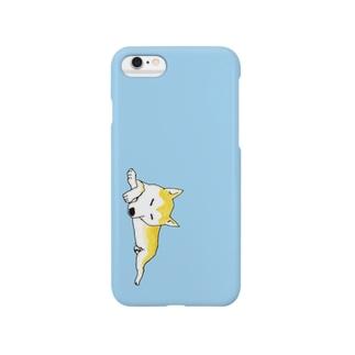 居眠りこまちシアン Smartphone cases