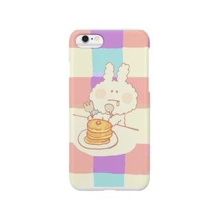 mocomoco rabbit (パンケーキ) Smartphone cases