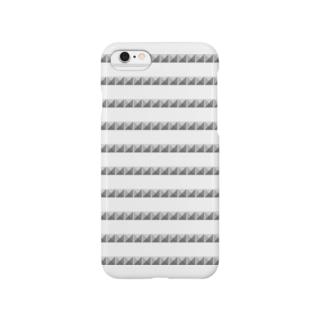 ピラミッドスタッズ ボーダー Smartphone cases