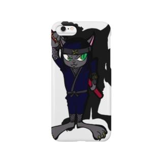 忍者ねこ(='x'=) Smartphone cases