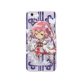 魔法少女★夢路 てぬぐい風 Smartphone cases