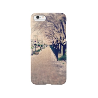 桜並木 Smartphone cases