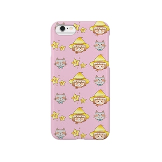 マジョ子さんと猫田さん(ピンク) Smartphone cases