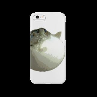 kuasのフグ(ポスタライズ) Smartphone cases