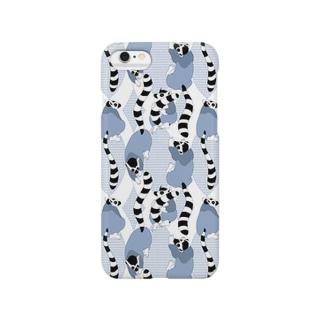 ブルーナイトワオキツネザル Smartphone cases