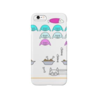 にゃんべーだー(しろ) Smartphone cases