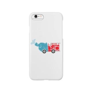 rokugatsunoumiのゾウの消防車 Smartphone cases