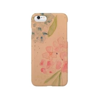 紫陽花のiPhoneケース Smartphone cases