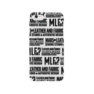 MLF@?モノグラム/white Smartphone cases
