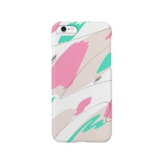 ピンクとミントと何かアレ Smartphone cases