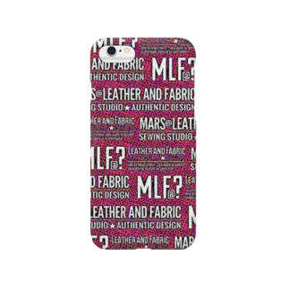 MLF@?モノグラム/サイケVer./pink Smartphone cases