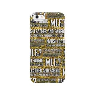 MLF@?モノグラム/サイケVer./yellow Smartphone cases