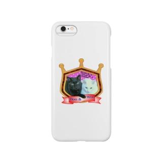 黒猫Booと白猫Wooの物語 Smartphone cases