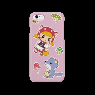 ゆめのみせの水玉ネコ耳ずきんちゃんとおおかみちゃん Smartphone cases