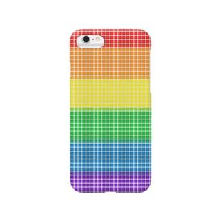 レインボーキューブ Smartphone cases