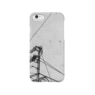 中継地点(点と線) Smartphone cases