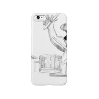 カエルのドラマー Smartphone cases