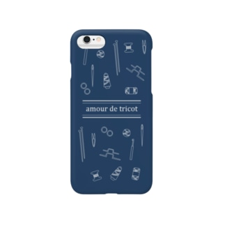 amour de tricot -navy- Smartphone cases