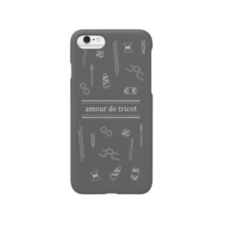 amour de tricot -grey- Smartphone cases