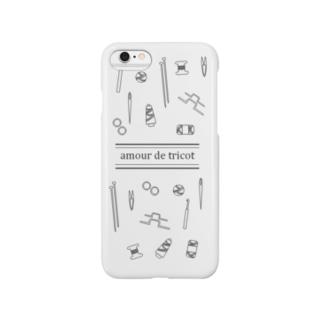 amour de tricot -white- Smartphone cases