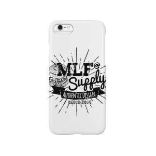 MLF@ SUPPLY-blackロゴ Smartphone cases