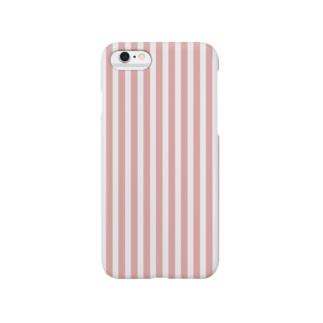 ピンクのストライプ Smartphone cases