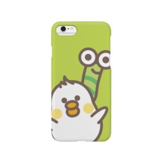 ぴよたん&むっしー Smartphone cases
