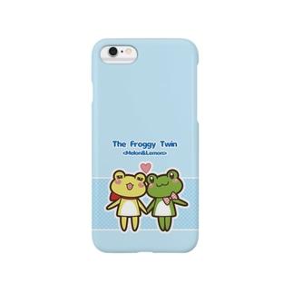 めろんとれもんのでんわケース(あおぞらいろ) Smartphone cases
