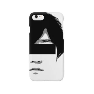 ARuFaマジ顔面(モノクロ) Smartphone cases