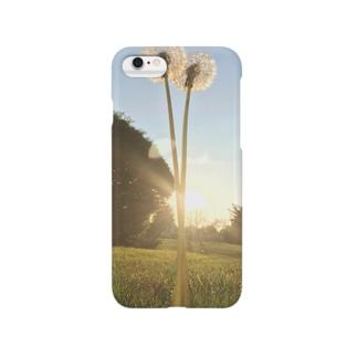 たんぽぽと夕日の夏 Smartphone cases
