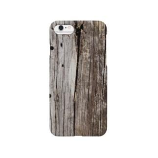 朽ちた木材 Smartphone cases
