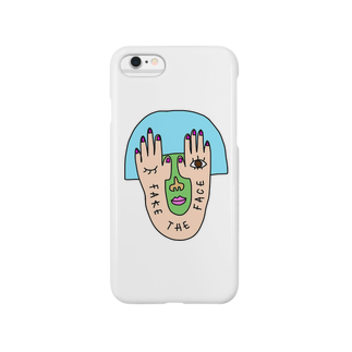 1104のFAKE THE FACE Smartphone cases