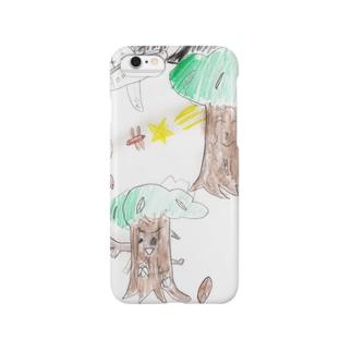夏の夜の森 Smartphone cases