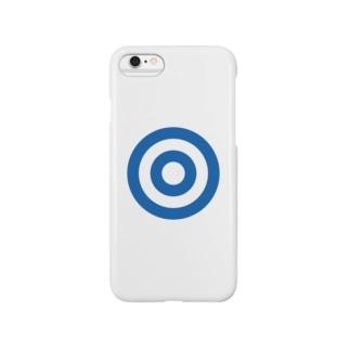 蛇の目(ブルー) Smartphone cases