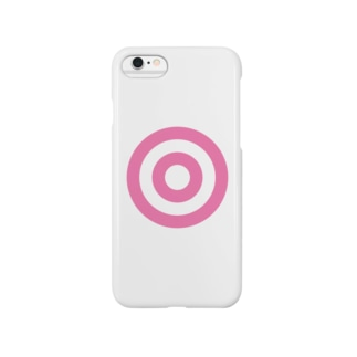 蛇の目(ピンク) Smartphone cases