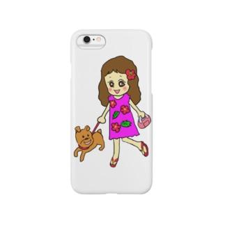 お散歩フラガール Smartphone cases