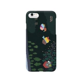 夜の森のピクニック Smartphone cases