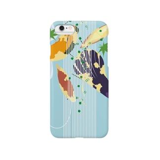 フォーリングそうめんとフォーリング野菜の天ぷら Smartphone cases