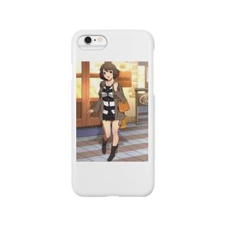 女の子とデートの待ち合わせ Smartphone cases