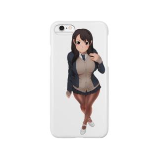 冬制服の女の子 Smartphone cases