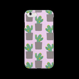ya_gyogyogyoのサボテンケース Smartphone cases