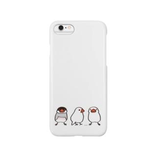 わんぱく文鳥 Smartphone cases