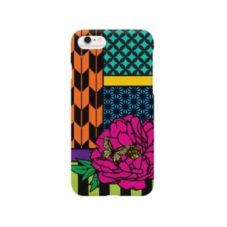 華札-牡丹に蝶- Smartphone cases