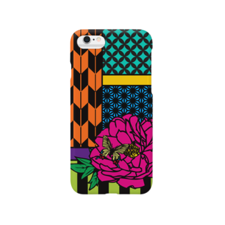 yumemidori*/hirakaの華札-牡丹に蝶- Smartphone cases