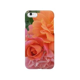 オレンジ色の薔薇 Smartphone cases