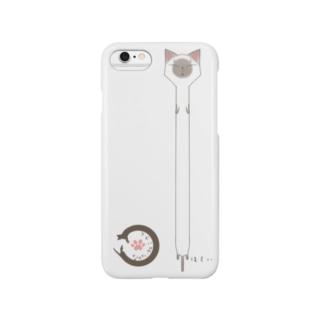 ながいねこさん:ほそい Smartphone cases